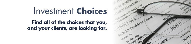 Investment Choices Banner
